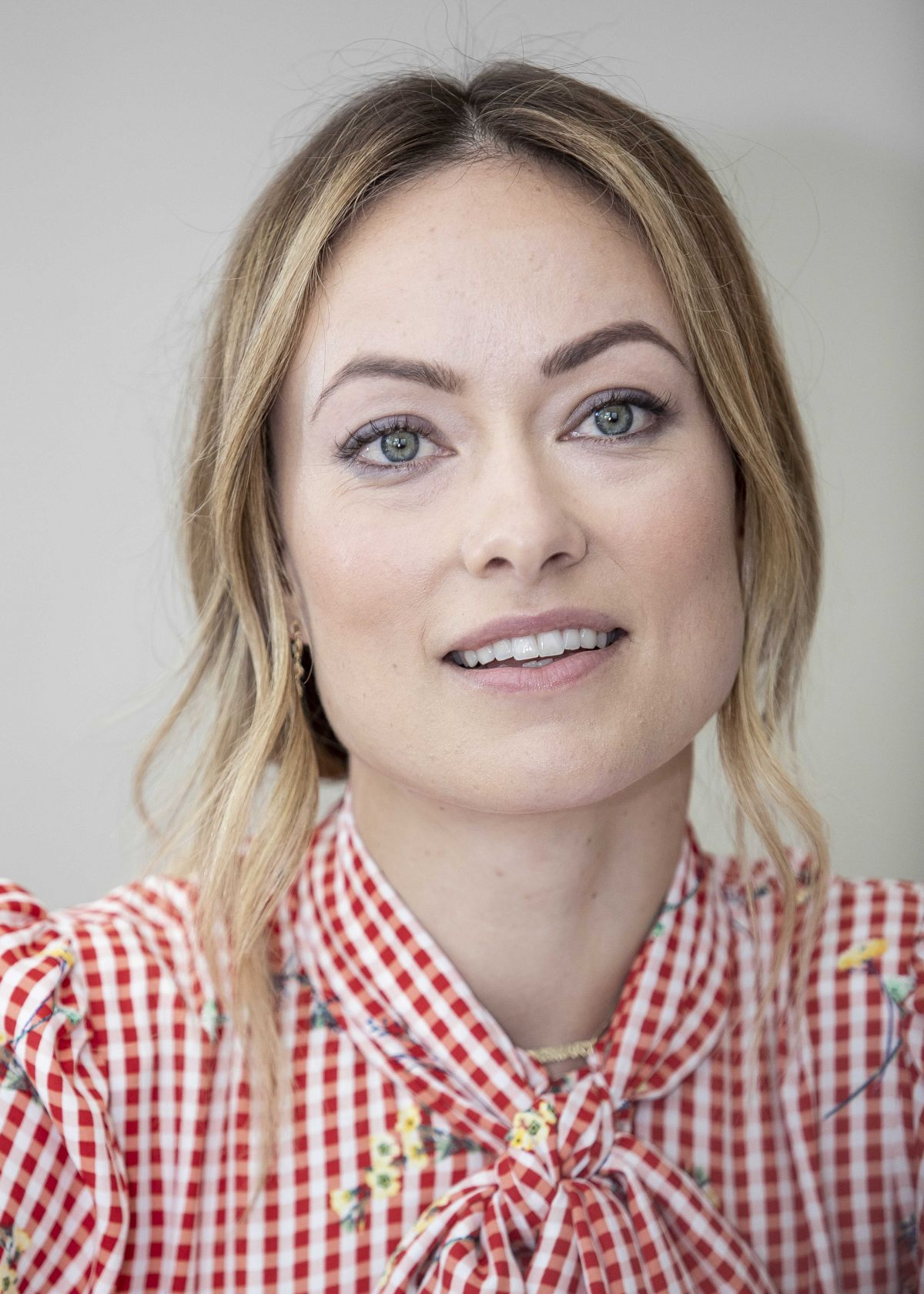 OLIVIA WILDE at Booksmart Press Conference in Beverly ...