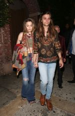 PARIS JACKSON and Gabriel Glenn Leaves Daveys Wayne