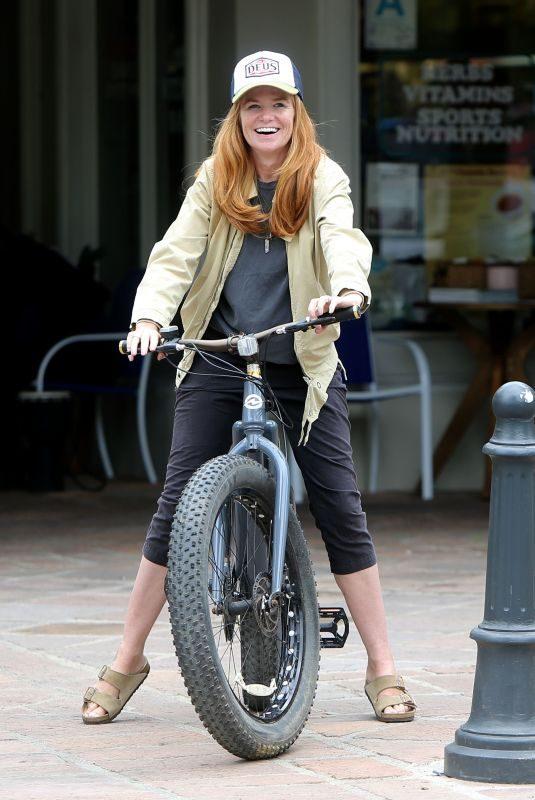 PATSY PALMER Riding a Bike Out in Malibu 05/23/2019
