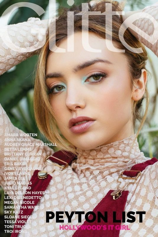 PEYTON ROI LIST for Glitter Magazine, Summer 2019