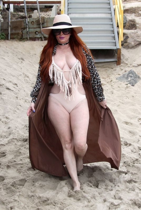 PHOEBE PRICE in Swimsuit on the Beach in Malibu 02/05/2019