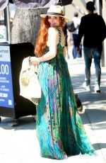 PHOEBE PRICE Shopping at Grand Park in Los Angeles 05/05/2019