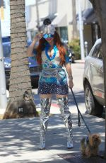 PHOEBE PRICE Walks Her Dog Out in Beverly Hills 05/17/2019