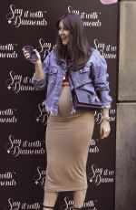 Pregnant BROOKE VINCENT at Say it with Diamonds Store Launch Party in Manchester 05/16/2019