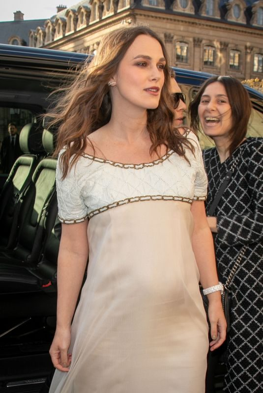 Pregnant KEIRA KNIGHTLEY at Chanel J12 Cocktail Party in Paris 05/02/2019