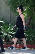 Pregnant KRYSTEN RITTER Out and About in Los Angeles 05/05/2019
