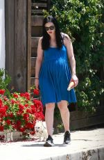 Pregnant KRYSTEN RITTER Out with Her Dog in Los Angeles 05/25/2019