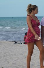 Pregnant SAMANTHA HOOPES and Salvatore Palella Out with Their D at a Beach in Miami 05/12/2019