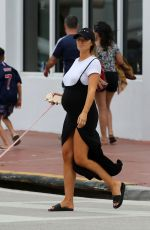 Pregnant SAMANTHA HOOPES Out with Her Dog in Miami 05/08/2019