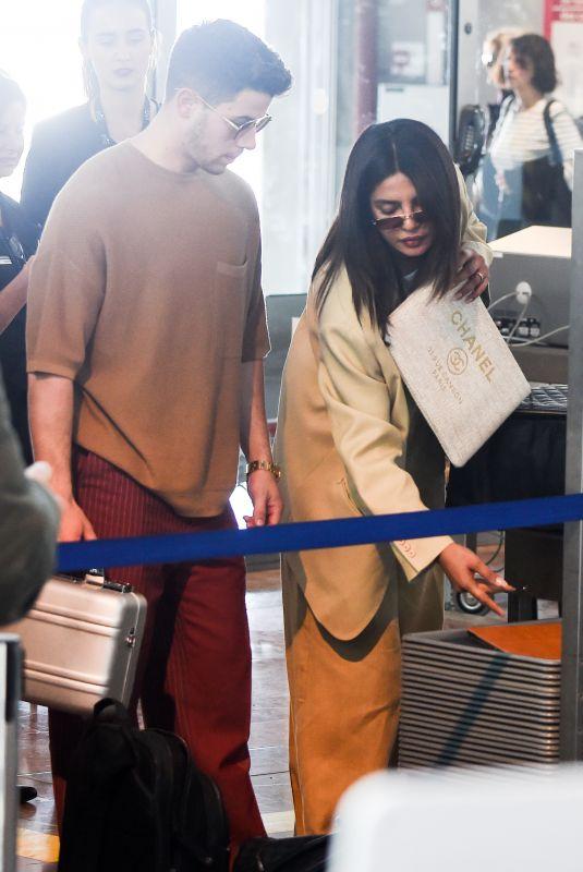 PRIYANKA CHOPRA and Nick Jonas at Airport in Nice 05/19/2019