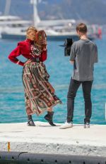 ROMEE STRIJD on the Set of a Photoshoot in Cannes 05/15/2019