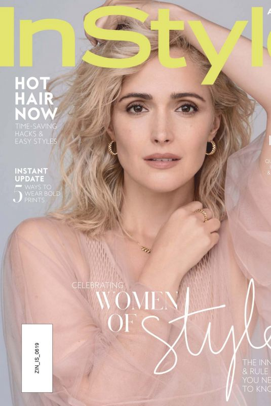 ROSE BYRNE in Instyle Magazine, Australia June 2019