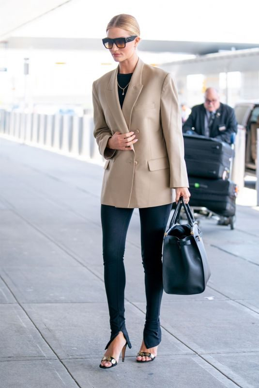 ROSIE HUNTINGTON-WHITELEY at JFK Airport in New York 05/07/2019