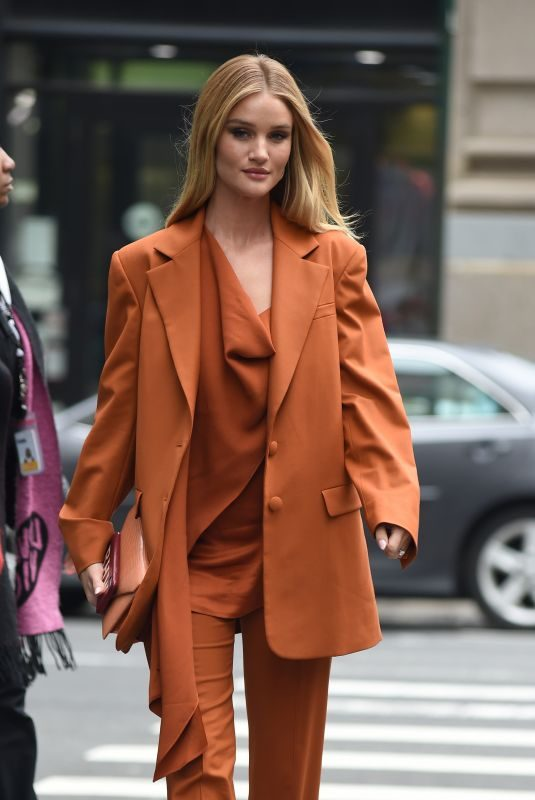 ROSIE HUNTINGTON-WHOTELEY Arrives at Build in New York 05/03/2019
