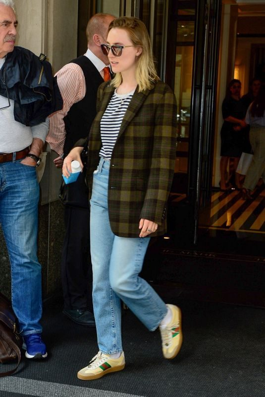 SAOIRSE RONAN Leaves Her Hotel in New York 05/02/2019