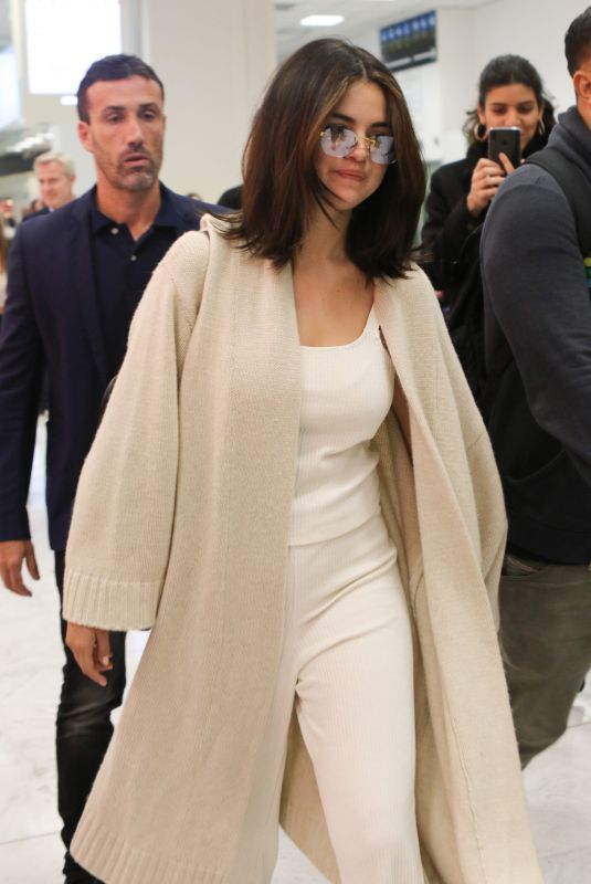 SELENA GOMEZ Arrives at Nice Airport 05/13/2019