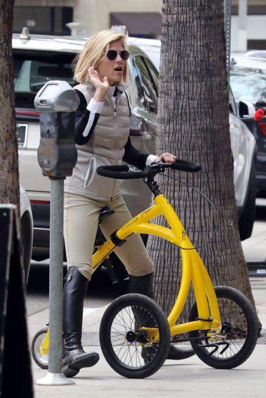 SELMA BLAIR Rides Her Special Bike to Alfred Coffee 05/18/2019