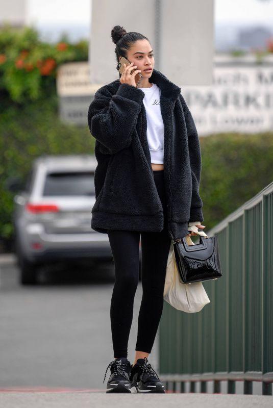 SHANINA SHAIK Leaves Yoga Class in Los Angeles 05/02/2019