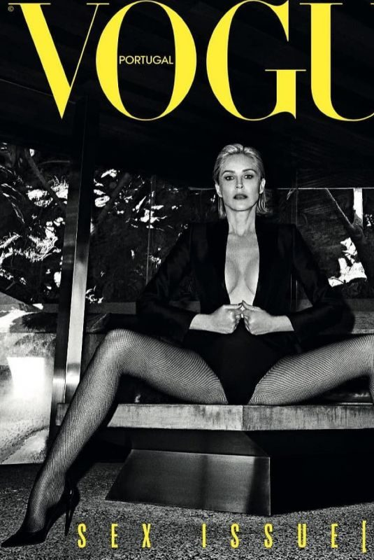 SHARON STONE in Vogue Magazine, Portugal May 2019