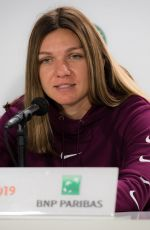 SIMONA HALEP at Press Conference at Roland Garros French Open Tournament in Paris 05/24/2019