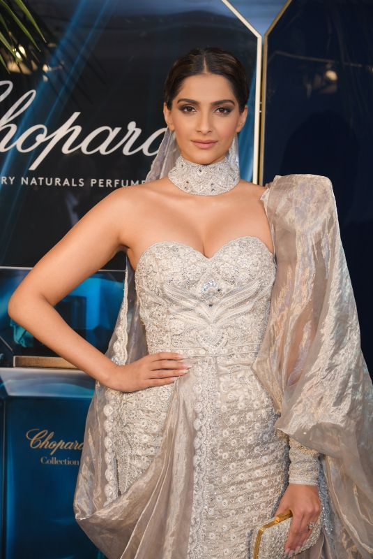 SONAM KEPOOR at Chopard Parfums Host La Nuit Des Rois Dinner in Cannes, May 2019
