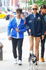 SOPHIE TURNER and Joe Jonas Out with Their Dog in New York 05/17/2019
