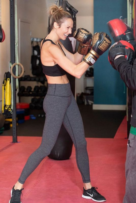 STACEY KEIBLER Workout at a Gym - Instagram Pictures 05/15/2019