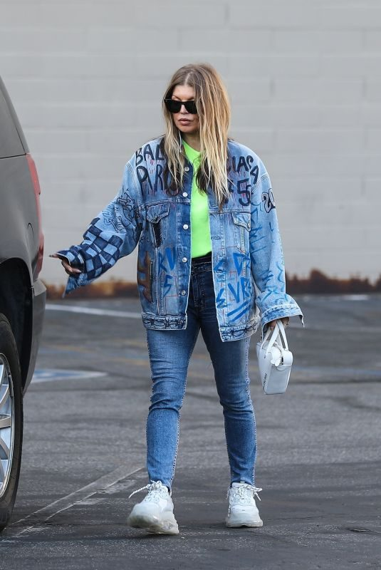 STACY FERGIE FERGUSON in Double Denim Out in Los Angeles 05/12/2019