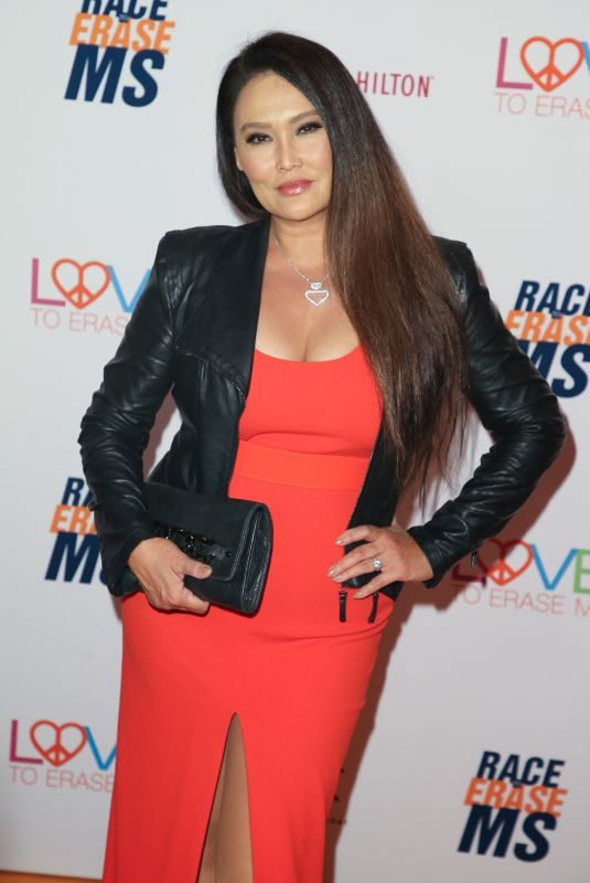 TIA CARRERE at Race to Erase MS Gala in Beverly Hills 05/10/2019