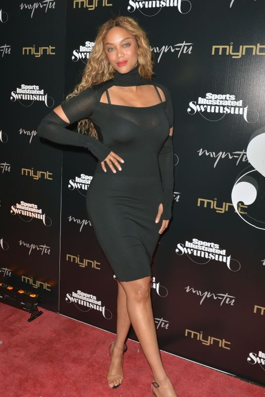 TYRA BANKS at Sports Illustrated Celebrates 2019 Issue Launch at Myn-tu in Miami 05/11/2019
