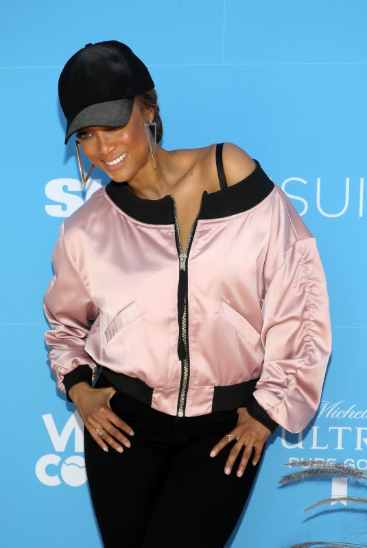 TYRA BANKS at Sports Illustrated Swimsuit Release Party On Location in Miami 05/10/2019