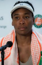 VENUS WILLIAMS at Roland Garros French Open Tournament Press Conference in Paris 05/26/2019