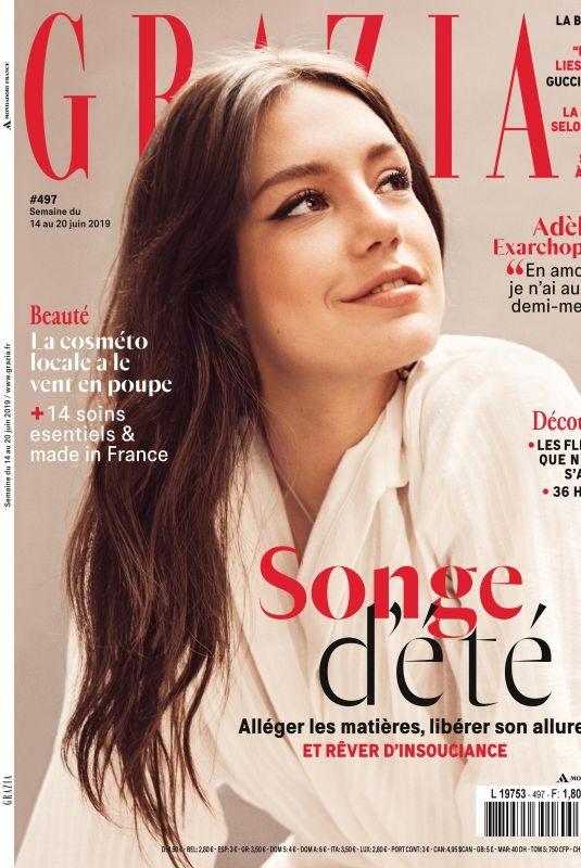 ADELE EXARCHOPOULOS in Grazia Magazine, France June 2019