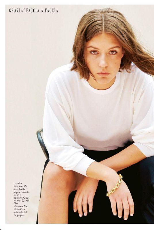 ADELE EXARCHOPOULOS in Grazia Magazine, Italy June 2019