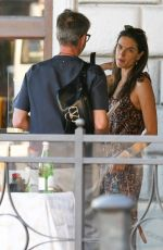 ALESSANDRA AMBROSIO at a Restaurant in Florence 06/13/2019
