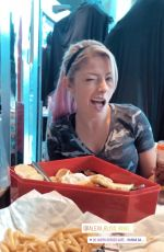 ALEXA BLISS at DC Super Heroes Cafe at Marina Bay - Instagram Pictures