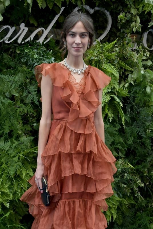 ALEXA CHUNG at Chopard Bond Street Boutique Reopening in London 06/17/2019