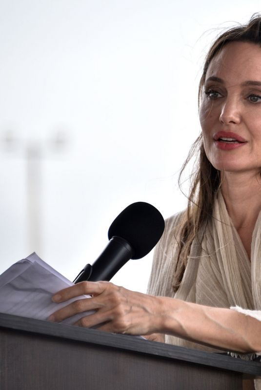 ANGELINA JOLIE at Refugee Camp in Maicao 06/08/2019