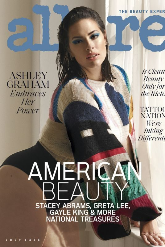 ASHLEY GRAHAM in Allure Magazine, July 2019