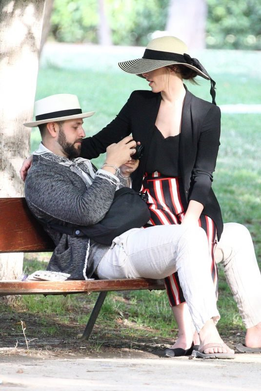 ASHLEY GREENE and Paul Khoury at El Retiro Park in Madrid 06/19/2019