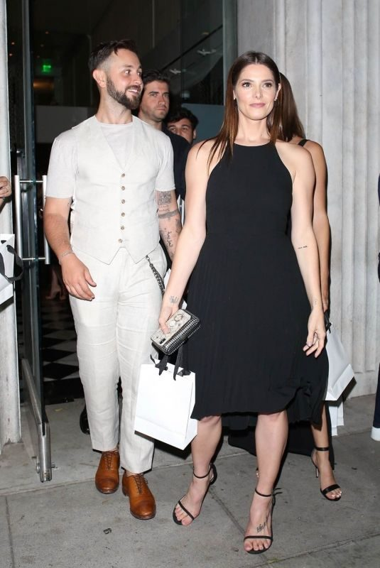 ASHLEY GREENE and Paul Khoury Leaves St. Jude Event at Mr. Chow in Beverly Hills 06/12/2019