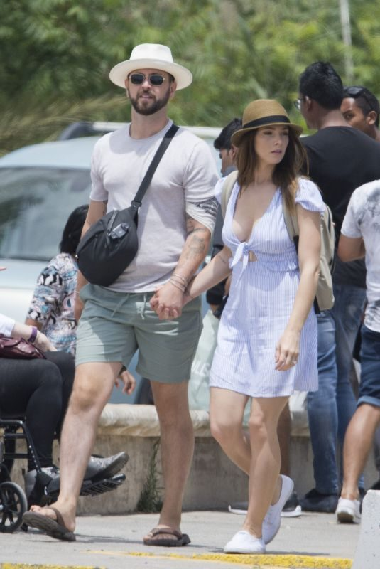ASHLEY GREENE and Paul Khoury Out in Ibiza 06/24/2019