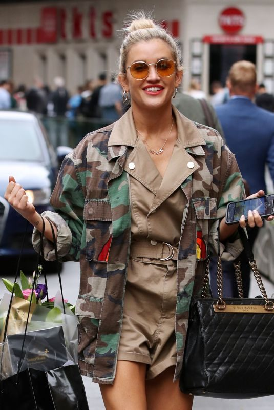 ASHLEY ROBERTS Leaves Global Radio in London 06/04/2019