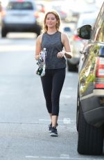 ASHLEY TISDALE Leaves a Gym in Studio City 06/10/2019