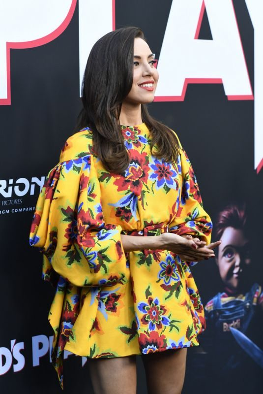 AUBREY PLAZA at Child's Play Premiere in Hollywood 06/19/2019
