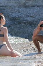 AURORA RAMAZOTTI in Bikini at a Beach in Mykonos 06/09/2019