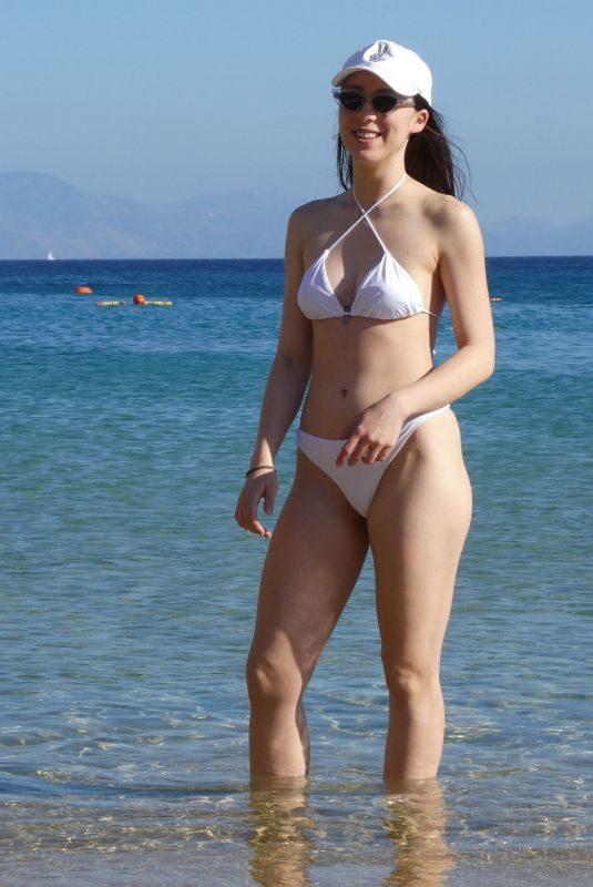 AURORA RAMAZZOTTI in Bikini with Friends in Greece 06/07/2019
