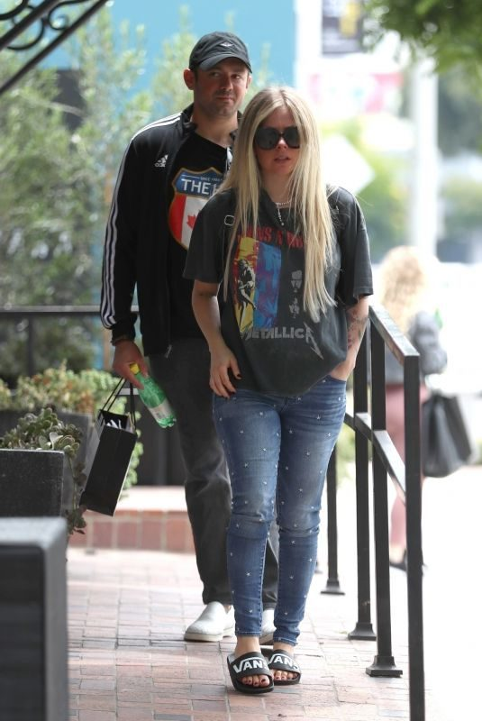 AVRIL LAVIGNE Shopping at Couture Kids in West Hollywood 06/15/2019