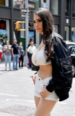 BELLA RENCH on the Set ofa Photoshoot in New York 06/02/2019