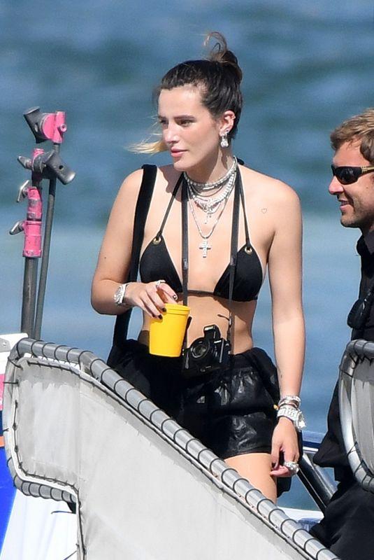 BELLA THORNE in Bikini Top Out in Miami Beach 06/21/2019